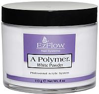 Акриловая пудра для ногтей EzFlow A-Polymer Truly White Acrylic Powder (113г) -
