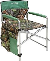 Кресло складное Ника С карманами 1 / КС1 (дуб/зеленый) -