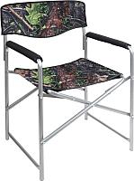 Кресло складное Ника Привал / КС3 (дуб/зеленый) -