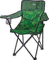 Кресло складное Ника Премиум 5 / ПСП5 (тропические листья на темном) -