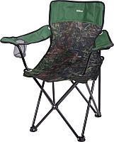 Кресло складное Ника Премиум 6 / ПСП6 (дуб/зеленый) -