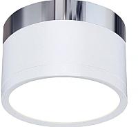 Точечный светильник Elektrostandard DLR029 10W 4200K (белый матовый/хром) -