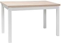 Обеденный стол Signal Adam 100 (дуб сонома/белый матовый) -