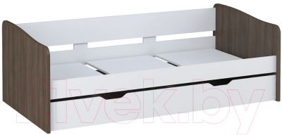Двухъярусная кровать Polini Kids Simple 4210 (белый/трюфель)