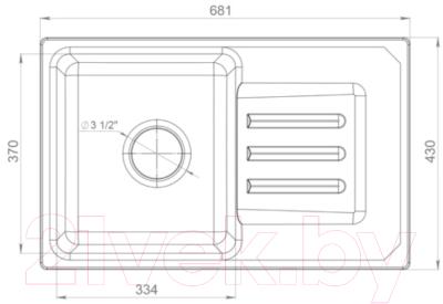 Мойка кухонная GranFest Smart 680 (песочный)