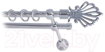 Карниз для штор Lm Decor Веер 006 2р витой (хром, 1.6м)