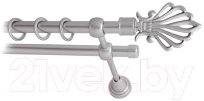 Карниз для штор Lm Decor Веер 006 2р гладкий (сатин, 3м)