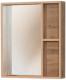 Шкаф с зеркалом для ванной Акваль Лофт 60 / В2.4.04.6.0.0 -