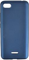 Чехол-накладка Case Deep Matte для Redmi 6A (синий матовый) -