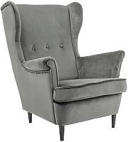 Кресло мягкое Signal Lord Velvet (Bluvel14 серый) -