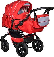 Детская универсальная коляска INDIGO Capri Pco (Cp 07, красный/серый) -