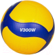 Мяч волейбольный Mikasa V300W (размер 5, желтый/синий) -