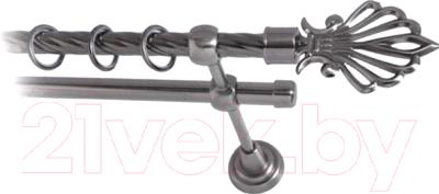Карниз для штор Lm Decor Веер 006 2р витой (антрацит, 2.8м)