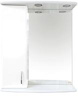 Шкаф с зеркалом для ванной Misty Астра 60 L / Э-Аст04060-01СвЛ -