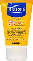 Молочко солнцезащитное Mustela SPF50+ с очень высокой степенью защиты (100мл) -