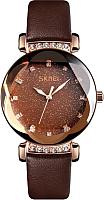 Часы наручные женские Skmei 9188-1 (розовое золото/кожа) -