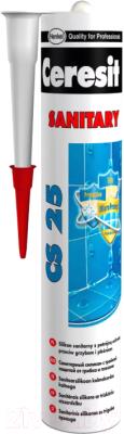 Герметик силиконовый Ceresit CS 25 (280мл, миндальный)
