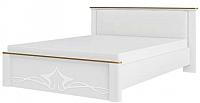 Двуспальная кровать Мебель-Неман Либерти МН-313-01 (белый/белый полуглянец) -