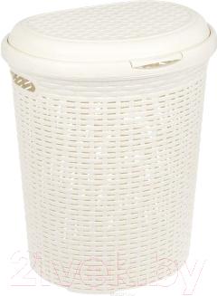 Корзина для белья Idea Ротанг / М2601 (50л,белый)