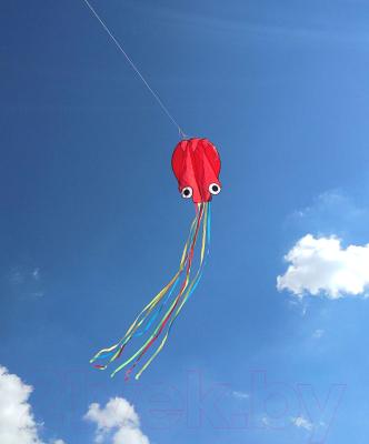 Воздушный змей Bradex Осьминог / DE 0439 (красный)