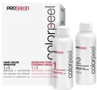 Набор косметики для волос Prosalon Двухфазное средство Colorpeel Hair Color Remover 1+2 (2x100мл) -