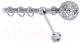 Карниз для штор Lm Decor Ажур 095 1р витой (хром, 3м) -