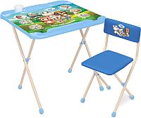 Комплект мебели с детским столом Ника КНД2/1 Наши детки. Кто чей малыш? -