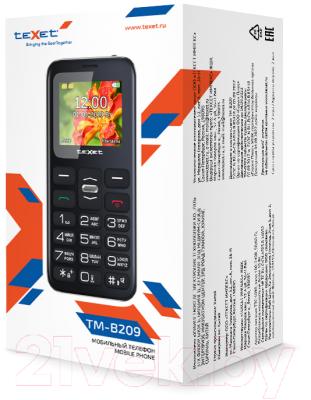 Мобильный телефон Texet TM-B209 (черный)