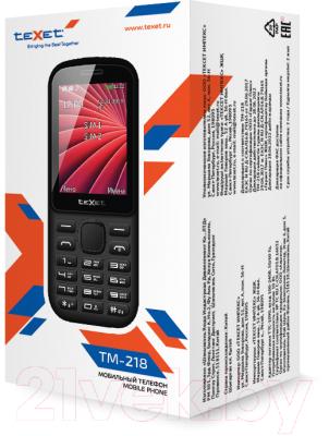 Мобильный телефон Texet TM-218 (черный/красный)
