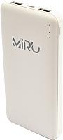 Портативное зарядное устройство Miru Li Pol 3001 10000mAh (белый) -