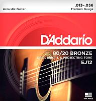 Струны для акустической гитары D'Addario EJ12 -