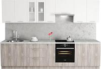 Готовая кухня Хоум Лайн Адель 3.1 (дуб клабхаус серый/белый снег) -
