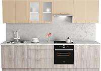 Готовая кухня Хоум Лайн Адель 3.0 (дуб клабхаус серый/макиато) -