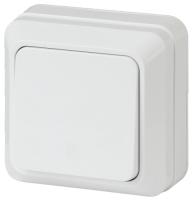 Выключатель INTRO Quadro 2-101-01 / Б0027631 (белый) -