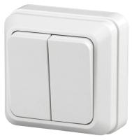 Выключатель INTRO Quadro 2-104-01 / Б0027640 (белый) -
