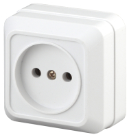 Розетка INTRO Quadro 2-201-01 / Б0027646 (белый) -