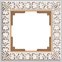Рамка для выключателя Werkel Antik WL07-Frame-01 / A036748 (белое золото) -