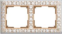 Рамка для выключателя Werkel Antik WL07-Frame-02 / A036749 (белое золото) -
