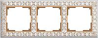 Рамка для выключателя Werkel Antik WL07-Frame-03 / A036750 (белое золото) -