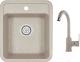 Мойка кухонная Granula GR-4202 + смеситель 35-05 (антик) -