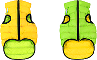 Куртка для животных AiryVest 1628 (M, салатовый/желтый) -