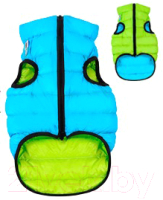 Куртка для животных AiryVest 1608 (S, салатовый/голубой) -