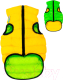 Куртка для животных AiryVest 1588 (XS, салатовый/желтый) -
