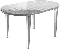 Стол пластиковый Стандарт Пластик Групп Овальный 140х80 (белый) -
