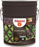 Защитно-декоративный состав Alpina Лазурь-гель (10л, бесцветный) -