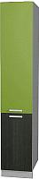 Шкаф-пенал кухонный Интерлиния Мила Gloss НШП-№2-2145 (яблоко/черный) -