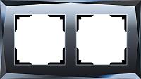 Рамка для выключателя Werkel Diamant WL08-Frame-02 / A029844 (черный) -
