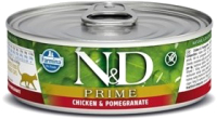 Корм для кошек Farmina N&D Cat Prime Chicken & Pomegranate (80г) -
