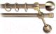 Карниз для штор Lm Decor Шар малый 124 2р гладкий (антик, 2.4м) -