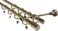 Карниз для штор Gardinia Цилиндр 2хр D19 / 48-2021051 (160см, латунь) -